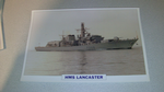 HMS Lancaster 1990 British warship framed picture